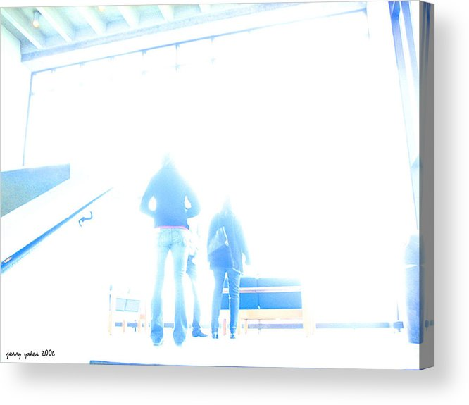 People Acrylic Print featuring the photograph Trying To Decide by Gerard Yates