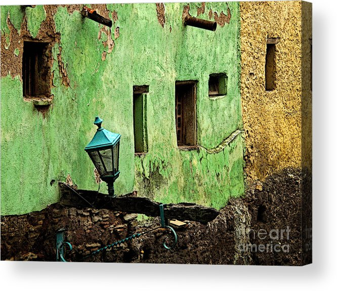 Darian Day Acrylic Print featuring the photograph Tunnel Lamp by Mexicolors Art Photography