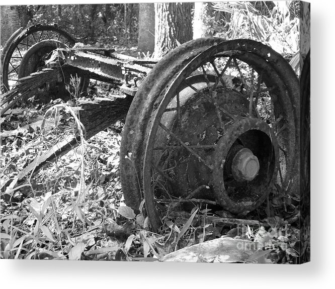 Wheel Acrylic Print featuring the photograph Turning by Stephanie Richards