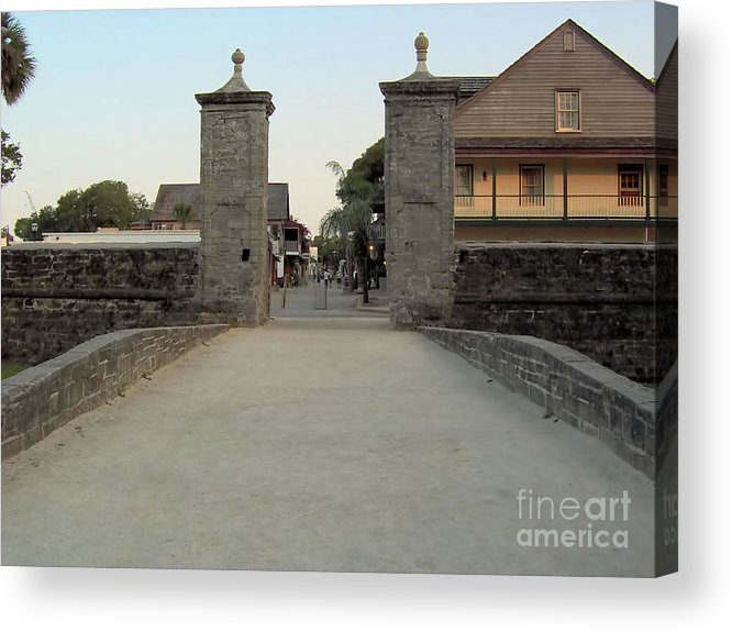 City Gates Acrylic Print featuring the photograph Twilight At The City Gates by D Hackett