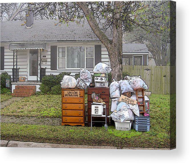 Social Comment Acrylic Print featuring the photograph Union Mission by Robert Boyette