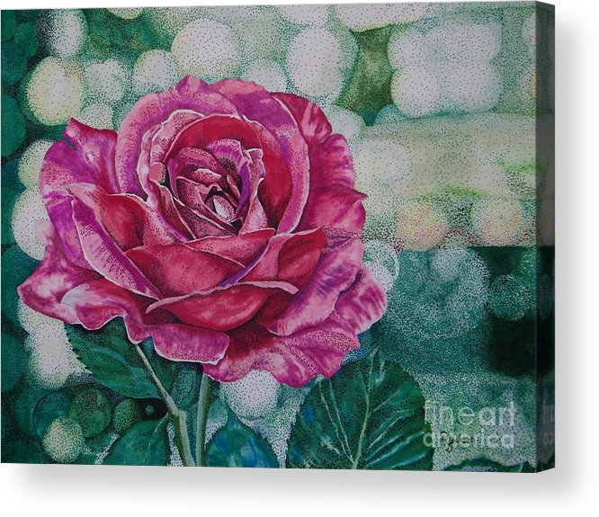 Rose Acrylic Print featuring the painting Up Close by Dale Jackson