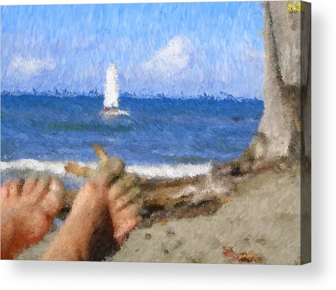 Acrylic Print featuring the painting Vacation by Jonathan Galente