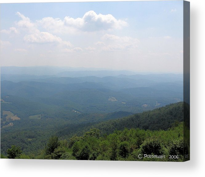 Bald Knob Acrylic Print featuring the photograph View From Bald Knob 2 by Carolyn Postelwait