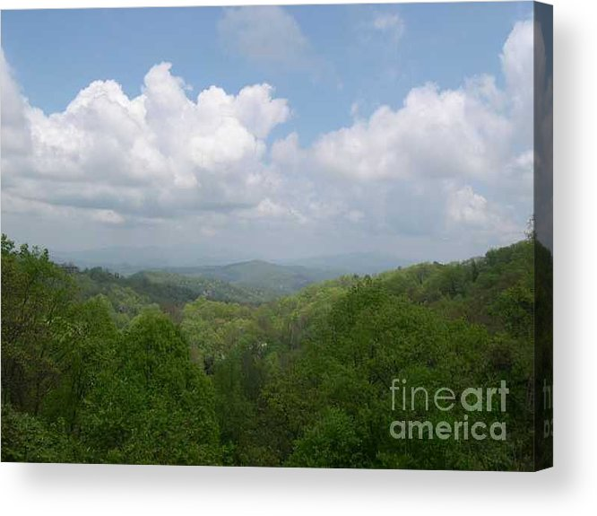 Mountains Acrylic Print featuring the photograph View From Ober Gatlinburg by Barb Montanye Meseroll