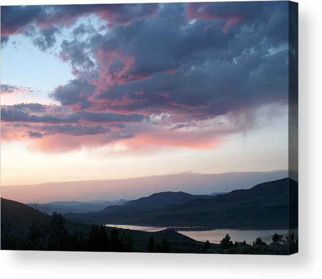 Pin Acrylic Print featuring the photograph View From The Cabin Near Heeney Colorado by Denise  Hoff