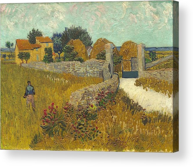 Art Acrylic Print featuring the painting Vincent Van Gogh, Farmhouse In Provence by Artistic Panda