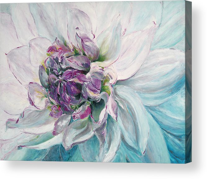 White Flower Acrylic Print featuring the painting Violette by Patricia Benson