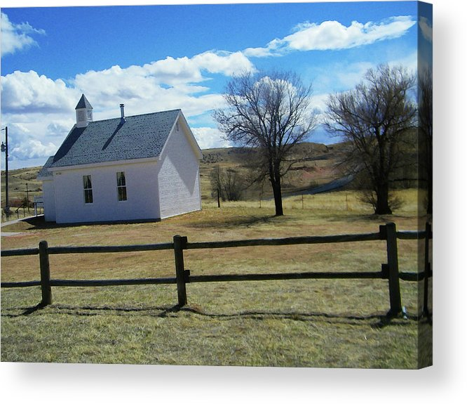 Abstract Acrylic Print featuring the photograph Virginia Dale Church by Lenore Senior
