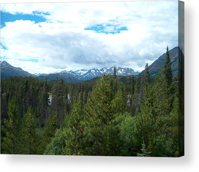 Alaska Acrylic Print featuring the photograph Vistas Along The Alcan by Janet Hall