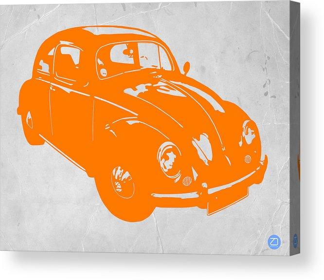 Acrylic Print featuring the photograph Vw Beetle Orange by Naxart Studio