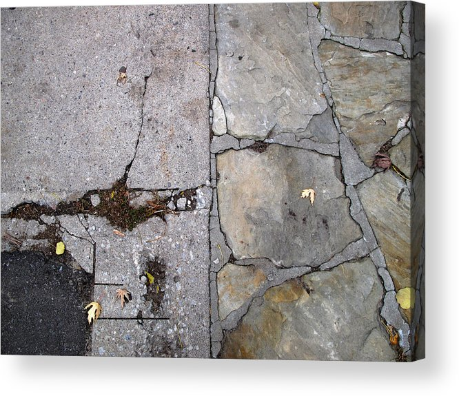 Urban Acrylic Print featuring the photograph Walkways by Lyle Crump