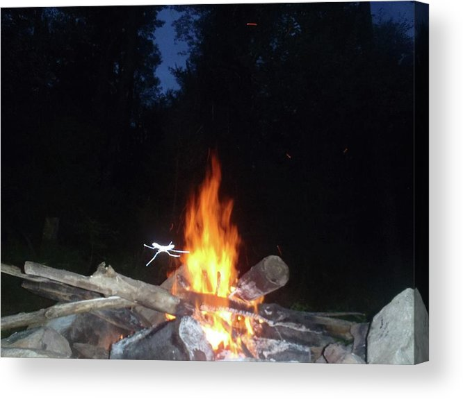 Acrylic Print featuring the photograph Warming Up By The Fire by Freddy Alsante