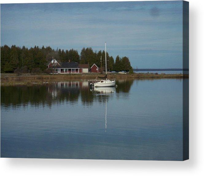 Washington Island Acrylic Print featuring the photograph Washington Island Harbor 3 by Anita Burgermeister