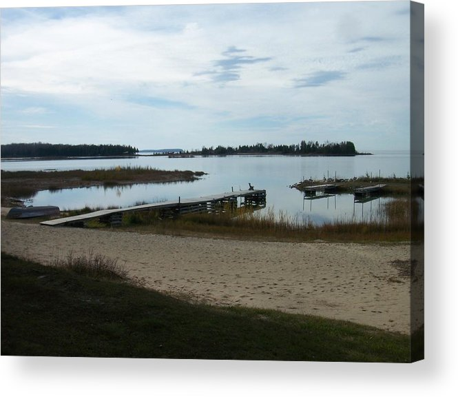 Washington Island Acrylic Print featuring the photograph Washington Island Shore 2 by Anita Burgermeister