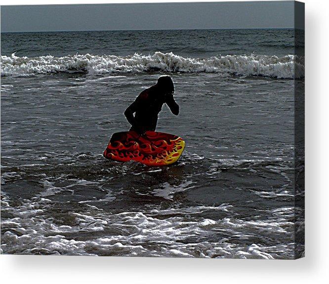 Virginia Beach Acrylic Print featuring the photograph Water Boarding by Vijay Sharon Govender