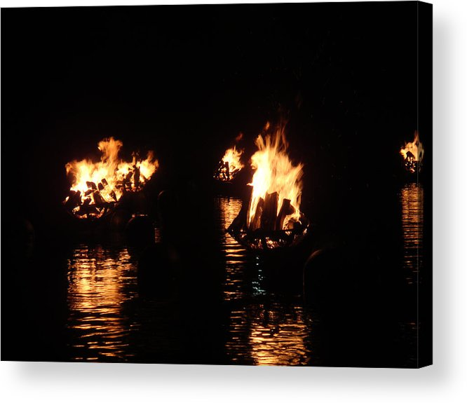 Water Fire Acrylic Print featuring the photograph Water Fire by Jeff Porter