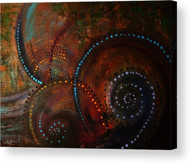 Abstract Acrylic Print featuring the painting Waves Of Arousal by Sylvia Pekarek
