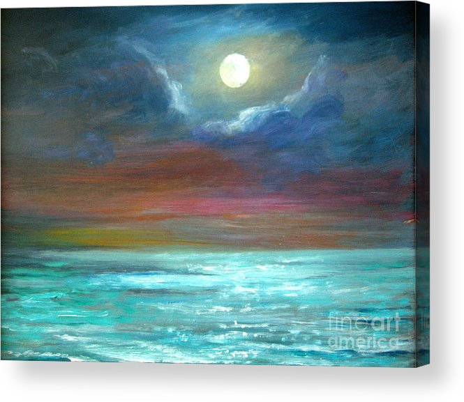 Origina Acrylic Print featuring the painting We Will Allways Have The Moon. Sold by Jeannette Ulrich