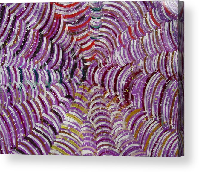 Acrylic Print featuring the painting Web by Biagio Civale