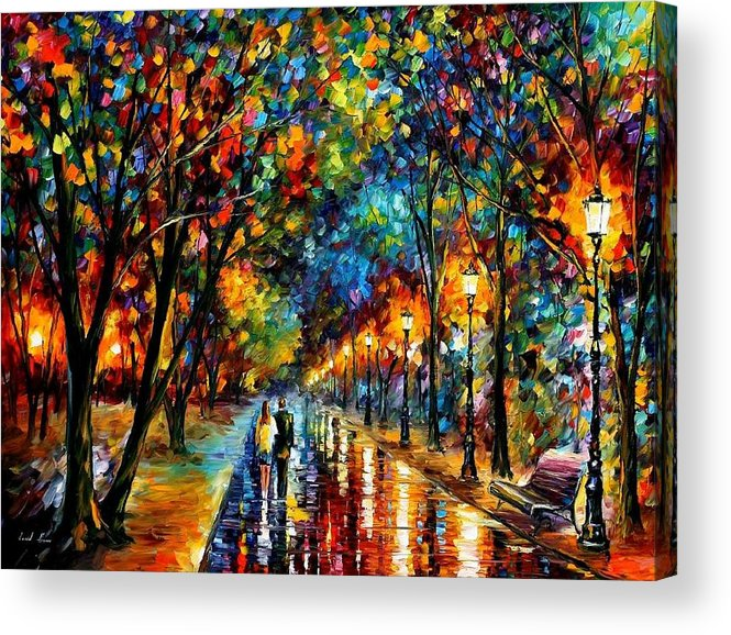 Charmant Landscape Acrylic Print Featuring The Painting When Dreams Come True By  Leonid Afremov