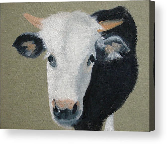Cattle Acrylic Print featuring the painting Who You Lookin At by Robert Rohrich