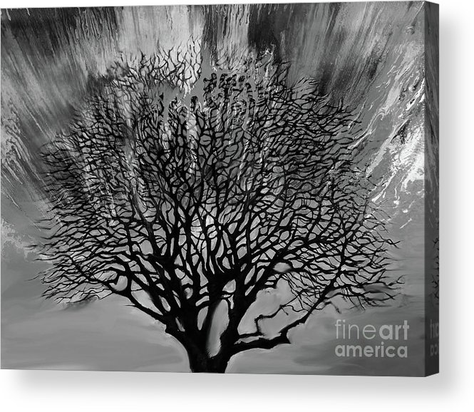 Painting Acrylic Print featuring the painting Wild Tree 10 by Gull G