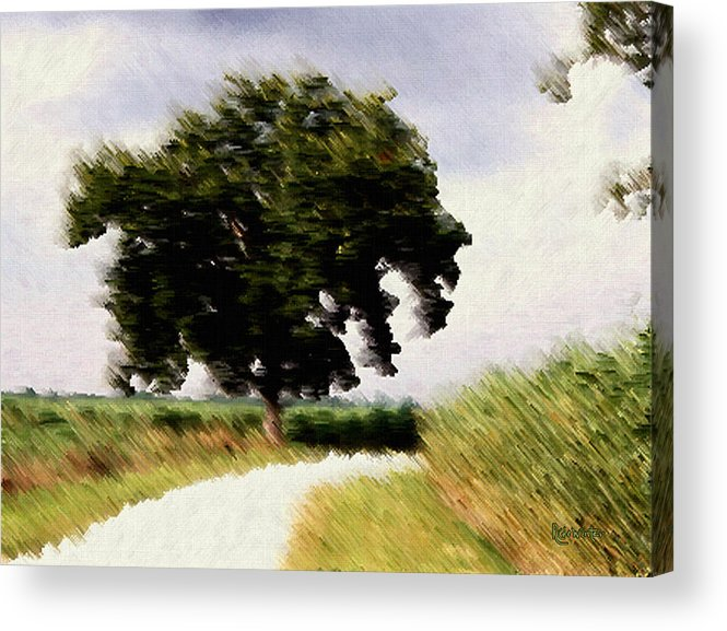 Breeze Acrylic Print featuring the digital art Wind Motif Old Dam Road by RC DeWinter
