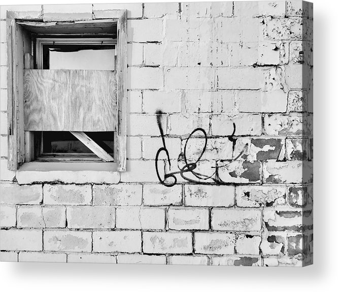 Street Art Acrylic Print featuring the photograph Windows And Tags by Julian Grant