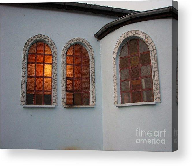 Architectual Acrylic Print featuring the photograph Windows by Iglika Milcheva-Godfrey