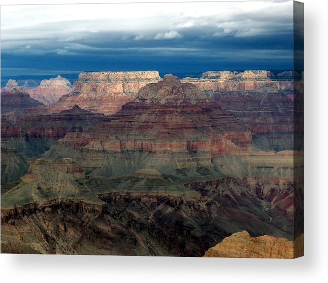 Grand Canyon National Park Acrylic Print featuring the photograph Winter Approaching by Carrie Putz