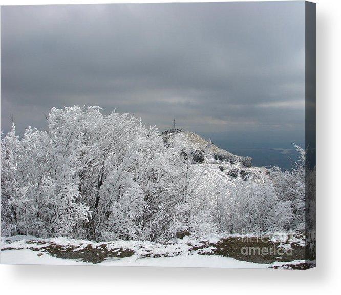 Winter Acrylic Print featuring the photograph Winter At Shipka by Iglika Milcheva-Godfrey