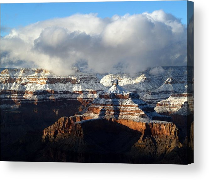 Grand Canyon National Park Acrylic Print featuring the photograph Winter by Carrie Putz