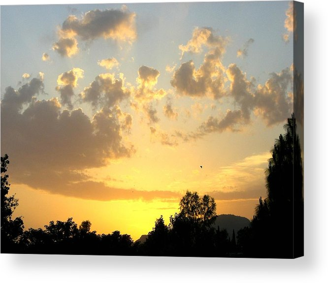 Sunset Acrylic Print featuring the photograph Winter In Pakistan by Caroline Urbania Naeem