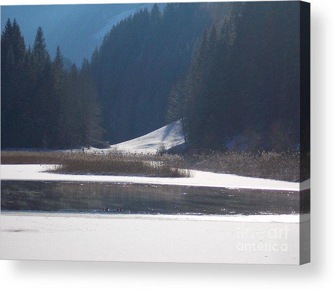 Winter Acrylic Print featuring the photograph Winter Lake 1 by Angelika Heidemann
