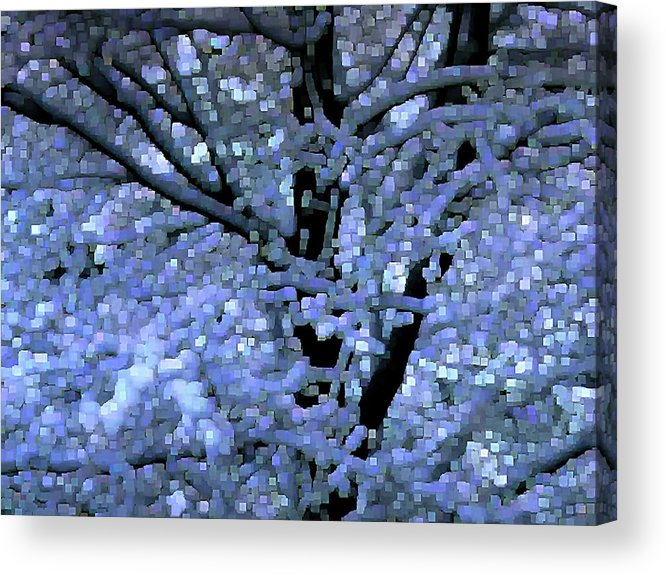 Abstract Acrylic Print featuring the digital art Winter Light by Dave Martsolf