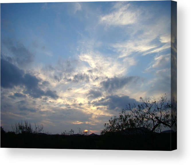 Winter Acrylic Print featuring the photograph Winter Sunset One by Ana Villaronga
