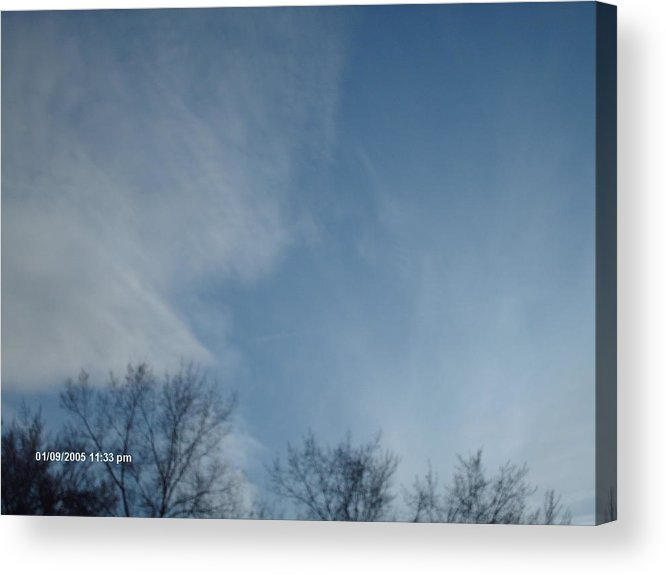 Acrylic Print featuring the mixed media Winters End by Jennifer Wall