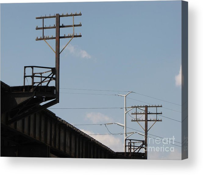 Schuminweb Acrylic Print featuring the photograph Wire Terminal Structures by Ben Schumin