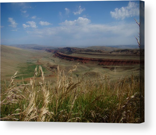 Wyoming Acrylic Print featuring the photograph Wyoming Morning by Tingy Wende