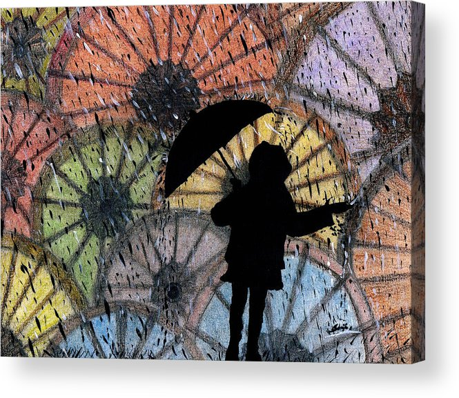 You Can Stand Under My Umbrella Acrylic Print featuring the painting You Can Stand Under My Umbrella by Sowjanya Sreeram
