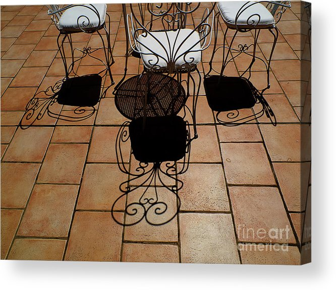 Chairs Acrylic Print featuring the photograph Chairs And Shadows by Mike Nellums