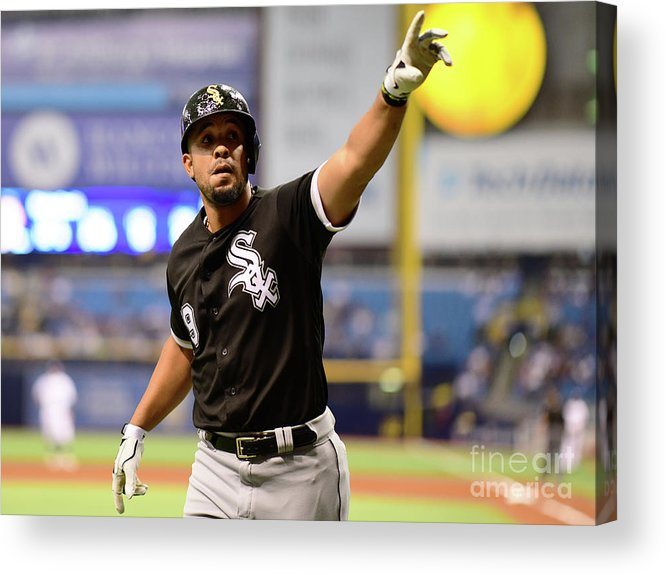 Three Quarter Length Acrylic Print featuring the photograph Chicago White Sox V Tampa Bay Rays by Julio Aguilar
