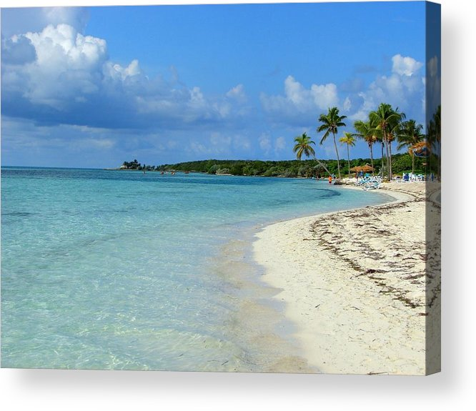 Water's Edge Acrylic Print featuring the photograph Coco Cay- Bahamas by Joy Ride By Taylor