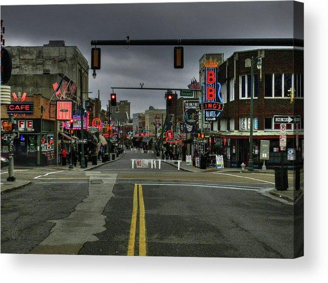 Memphis Acrylic Print featuring the photograph Memphis - Beale Street 001 by Lance Vaughn