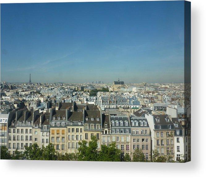 Outdoors Acrylic Print featuring the photograph Paris Cityscape by Marion De Man