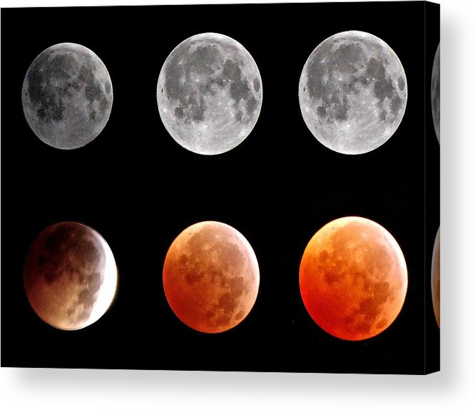 Total Eclipse Acrylic Print featuring the photograph Total Eclipse Of Heart Sequence by Joannis S Duran / Freelance Photographer