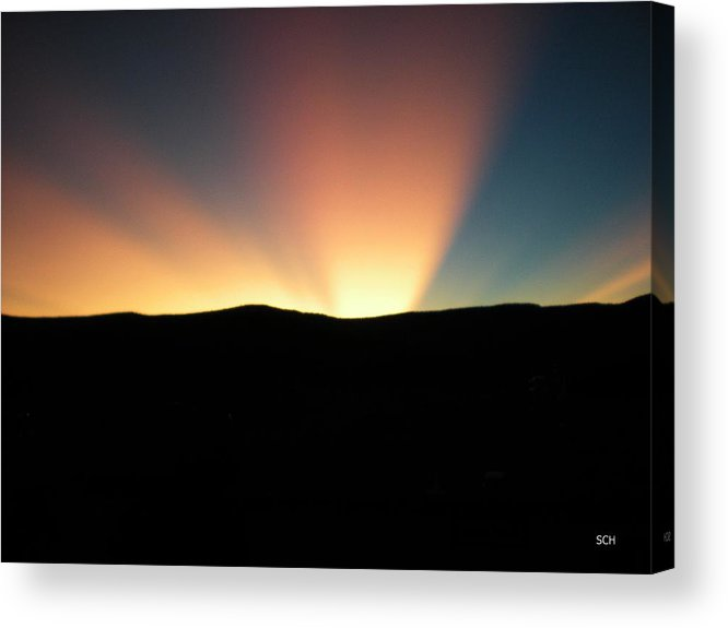 Summer Acrylic Print featuring the photograph Unaltered New Mexico Sunrise by Scott Haley