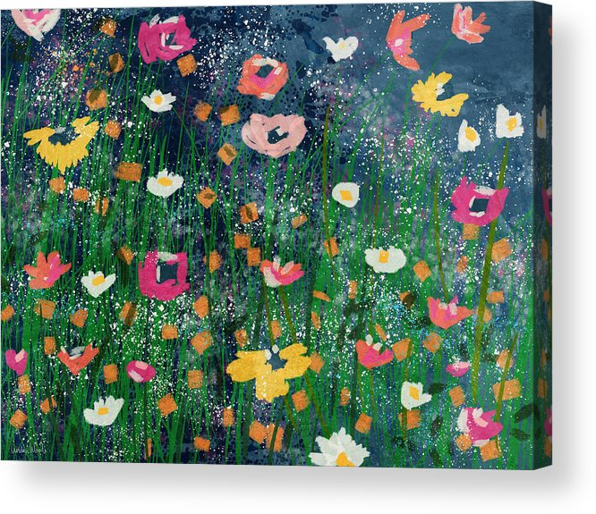 Flowers Acrylic Print featuring the mixed media Wildflowers 2- Art By Linda Woods by Linda Woods