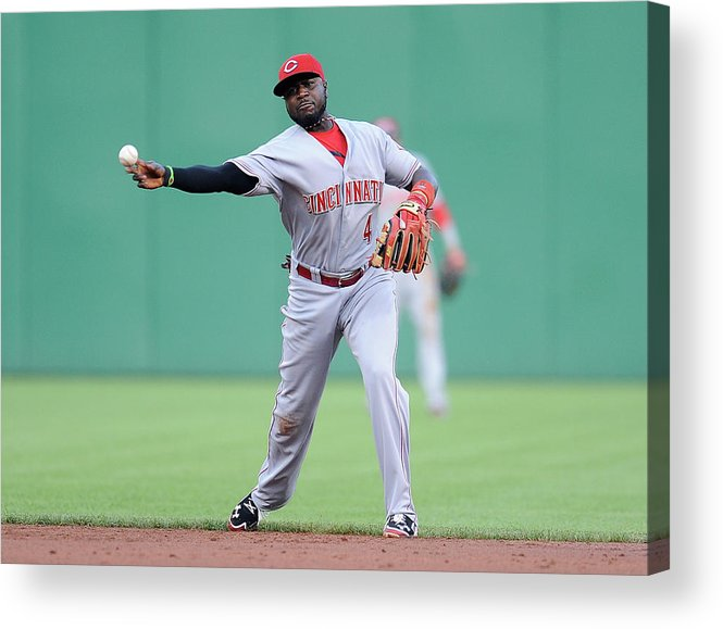 Pnc Park Acrylic Print featuring the photograph Red Phillips by Joe Sargent